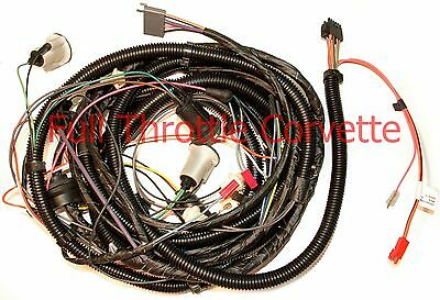 1981 Corvette Rear Body Wiring Harness With Rear Window Defrost Option