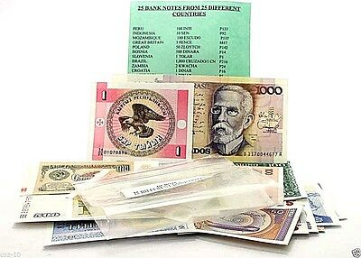 25 Different Banknotes From 25 Different Countries Mint Uncirculated Set