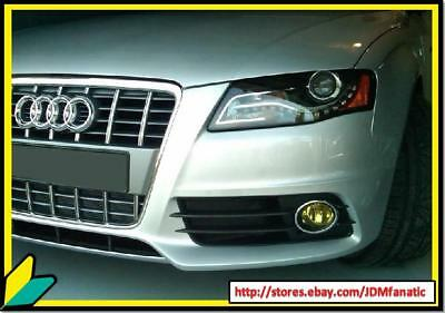 A3 A4 S4 PRECUT Fog Light Euro French Yellow Overlays TINT Kit Wrap