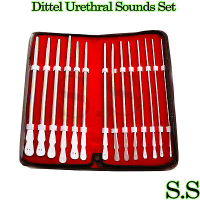 Dittel Urethral Sounds Set Of 14, Urology Instruments