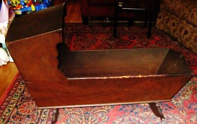 Antique Wood Baby Crib Cradle 1700's 18C Pickup Only Ny