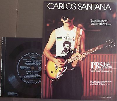 1988 PRS Guitars Carlos Santana Ad + Soundpage record