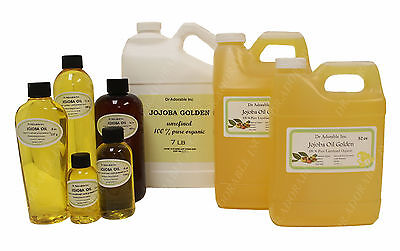 Jojoba Oil Pure Golden Cold Pressed Organic *free S&h!*