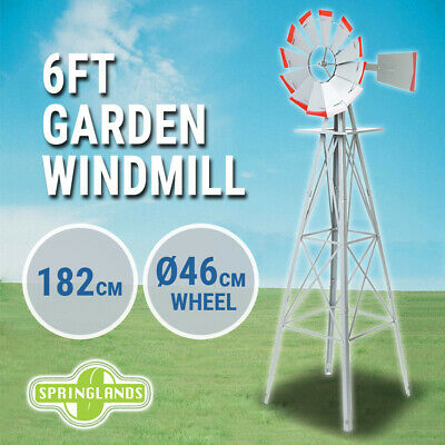 Garden Windmill 180cm Metal, 6 FT Decorative Ornamental, Outdoor Wind Mill