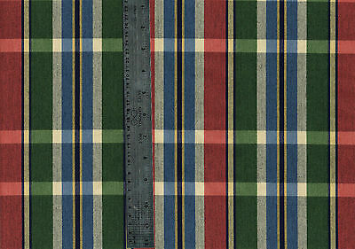Drapery Upholstery Fabric Red Green Blue Plaid