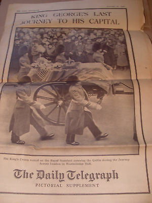 Telegraph Pictorial Supplement: King George 24/01/1936