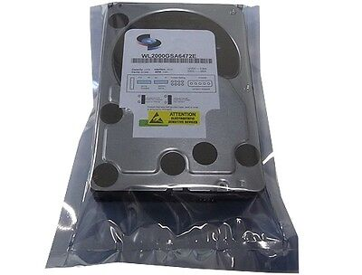 "WL 2TB 64MB Cache 7200RPM Enterprise SATA 6Gb/s 3.5"" Hard Drive - FREE SHIPPING"
