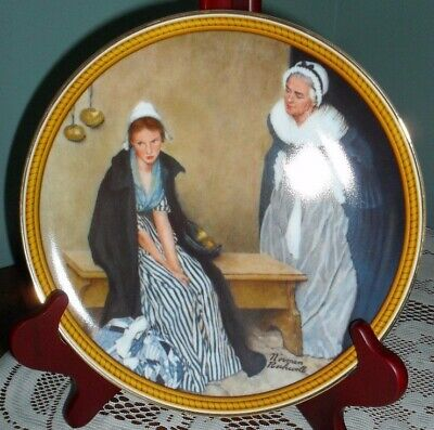 '78 Knowles Rockwell's Colonials WORDS OF COMFORT plate