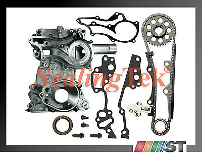 85+ Toyota 22R 22RE Timing Chain Cover Kit STEEL GUIDE