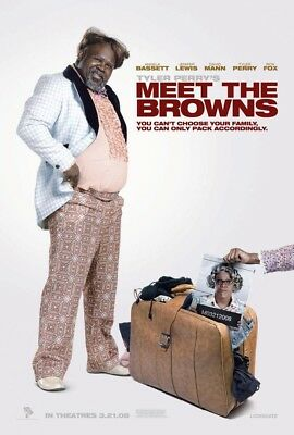 MEET THE BROWNS MOVIE POSTER 2 Sided ORIGINAL ADV 27x40