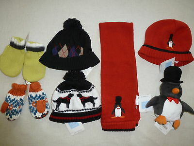 Janie and Jack Boys WINTER Red Penguin Hat Black Dog NWT 2T 3T 6-12 Baby
