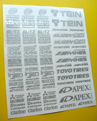 RC Drift SILVER stickers decals HPI Losi Drift-R Kyosho