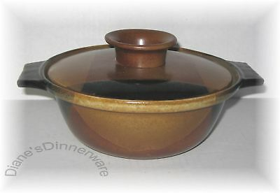 Potters Art POTTERY CRAFT 1 Qt COVERED CASSEROLE  Black & Brown   .11