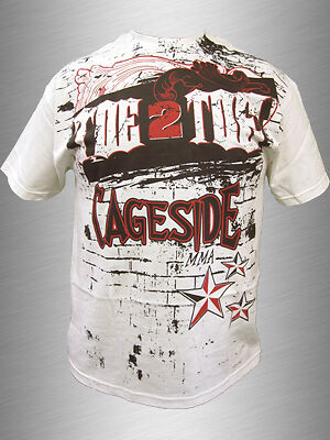 Toe2Toe Cageside White Tshirt Mma Ufc Strikeforce Gsp