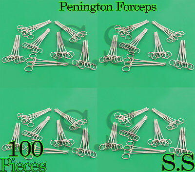 "100 Pennington Forceps Sloted 6"" Surgical Body Piercing"