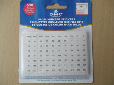 Dmc -  640 Floss Number Stickers