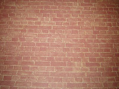DOLLS HOUSE WEATHERED BRICK 2 x SHEETS MINIATURE WALL PAPER, 12 TH SCALE NEW