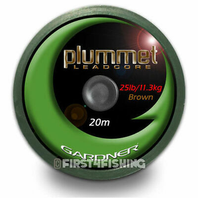Gardner Tackle Plummet Leadcore Leader - Carp Barbel Catfish Coarse Fishing Line