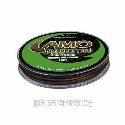 Gardner Tackle Camo Plummet Leadcore - Carp Barbel Tench Coarse Fishing Line