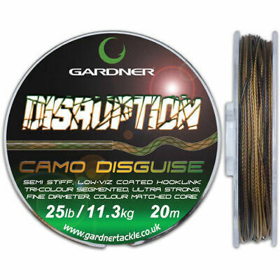 Gardner Tackle Disruption Coated Hooklink - Carp Bream Tench Coarse Fishing Line