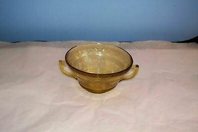 YELLOW DEPRESSION GLASS CREAM SOUP BOWL PATRICIAN