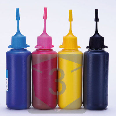 4 x 50ML Bottle Premium Pigment Ink for Epson Refillable Cartridges CIS CISS