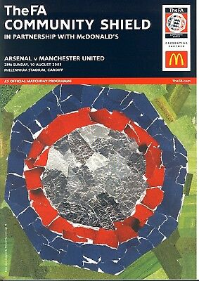 FA COMMUNITY SHIELD 2003: Manchester United v Arsenal