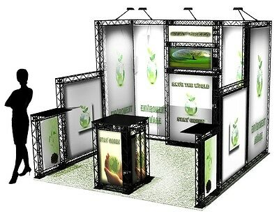 CrossWire 10x10 portable exhibit booth display graphic