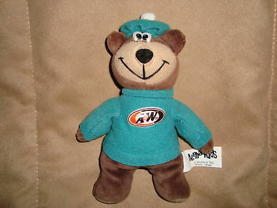 "A&W Bear Alpha Kids 1998 7"" Plush Beanbag"