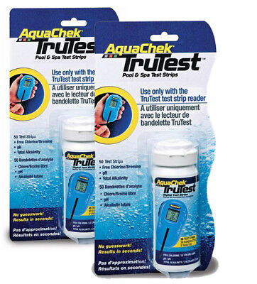 2 x 50 Tru-Test Strip Hot Tub Pool Aquachek Swimming Pool Spa 100 Strips TruTest