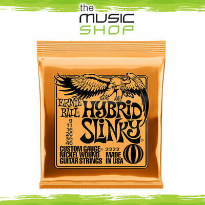 Ernie Ball 2222 Hybrid Slinky Electric Guitar Strings 9-46 - Orange