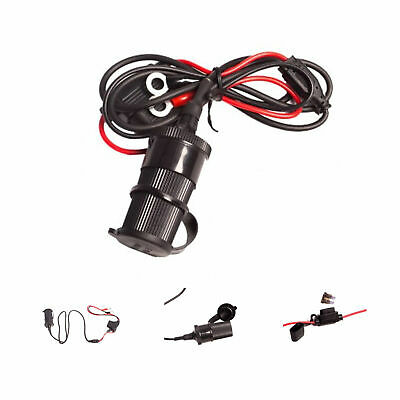 12v DC Socket Charger Accessory with 1.5 Metre Long Loom for Motorcycle Battery