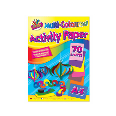 A4 Multi Coloured Activity Paper Art Craft 80 Sheets!