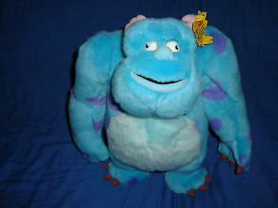 """Monsters Inc SULLEY Plush W/ Moving Eyes 14"""" HTF"""