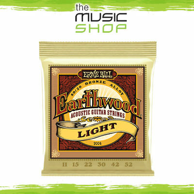 Ernie Ball 2004 Earthwood 11-52 80-20 Bronze Acoustic Guitar Strings Light - New