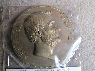 US Mint Abraham Lincoln Large Bronze Table Medal-Civil War President