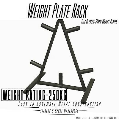 NEW Olympic Weight Plate Stand Storage Rack Fitness Gym Exercise Equipment