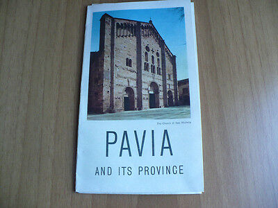 Guida Turistica Pavia And Its Province In Inglese 1956