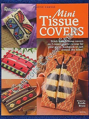 Plastic Canvas Pattern Mini Tissue Covers 8 Design EASY