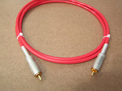 Red 3FT UpScale Canare GS-6 Un-Balanced RCA to RCA  Audio Cable