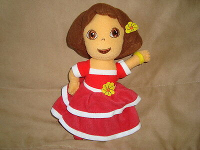 "Dora the Explorer Plush 2006 Nanco 8"" In Red Dress"