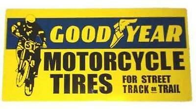 Goodyear Motorcycle Tires Heavy Metal Sign Cabin Garage Shop Decor