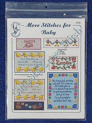 Cross Stitch Pattern More Stitches For Baby 7 Designs