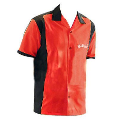 Budweiser Retro Bowling Shirt New in Bag 5 Sizes NICE!!
