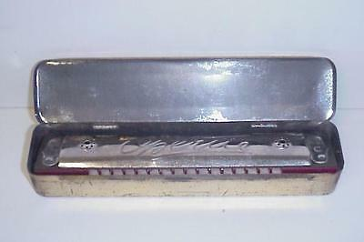 Vintage Opera W. Germany Us Zone Harmonica & Tin Box