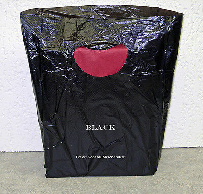 "100 BLACK Plastic Merchandise Shopping Bags 7""x3""x12"""