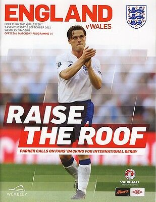 ENGLAND v Wales (Euro 2012 Qualifier @ Wembley) 2011 - Official match programme