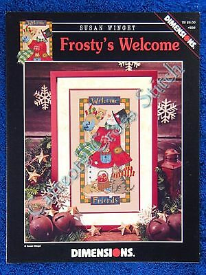 Christmas Cross Stitch Pattern Frosty's Welcome Snowman