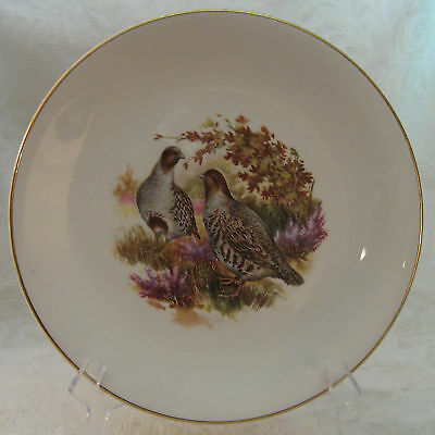 J H Weatherby Royal Falcon Ware Game Birds Salad Plate