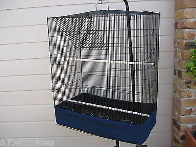 Large Small Parrot  Budgie Bird Cage Tall Flight with Tidy
